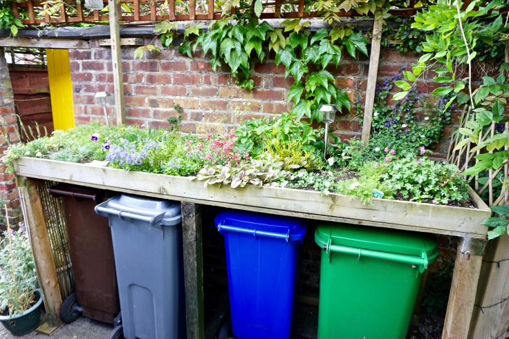 Bin store with planted green roof