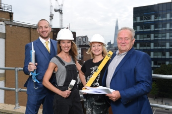 (Left to right) XXXX and XXXX will be giving their expert building advice on the Trade Secrets Stage at the upcoming London Homebuilding & Renovating Show, which takes place September 23rd at the Excel Centre, London. PRESS ASSOCIATION Photo. Issue date: XXXXday XXXXber XXX, 2018. Photo credit should read: Anthony Upton/PA Wire Attendees on shoot : Home improvement experts Sian Astley and Jo Dyson YouTube builders Mike Edwards and Andy Stevens PRESS ASSOCIATION Photo. Picture date: Tuesday, September 4th 2018 Photo credit should read: Anthony Upton/PA Wire