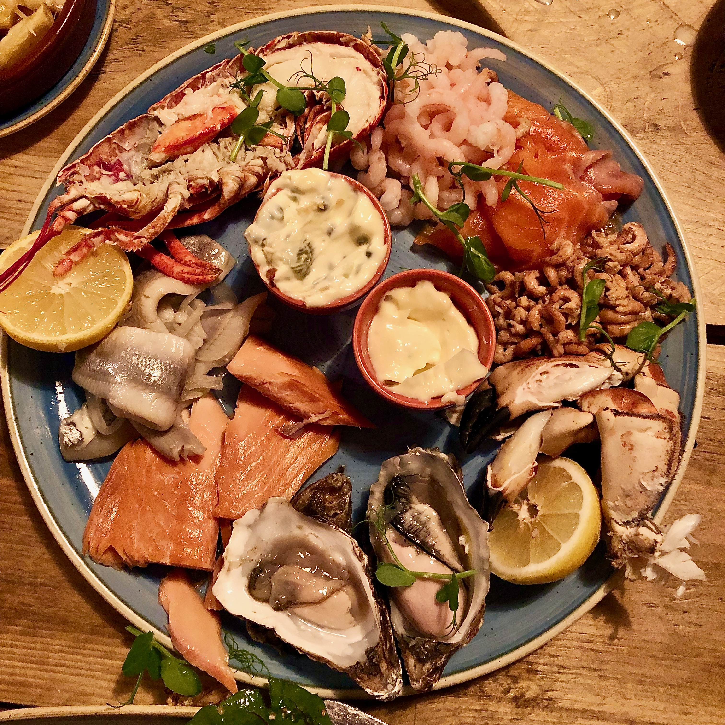 Seafood Platter Bamburgh at The Potted Lobster
